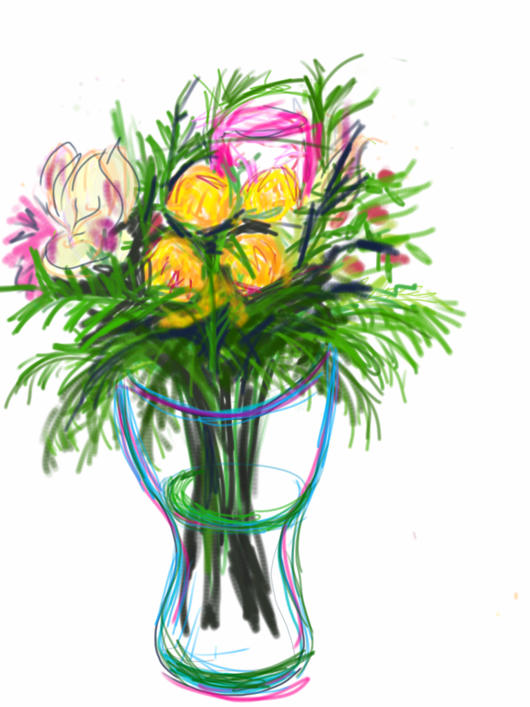 Thebouquet ipad drawing