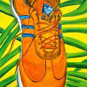Adidas-shoe-on-grass-70x100-Eric-ware