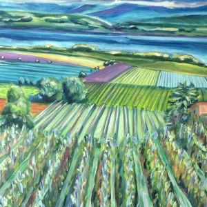 Vinyards-with-lac-50x70-Eric-Ware